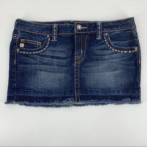 Decree Blue Jean Mini Skirt Junior 9